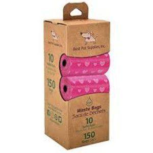 Scented Pink Hearts Poop Bags